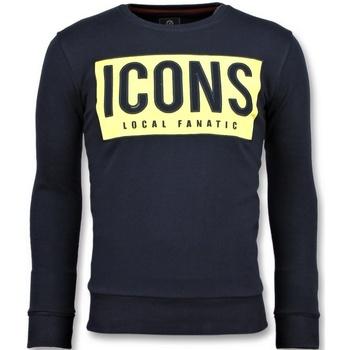 textil Herr Sweatshirts Local Fanatic ICONS Block Trevlig B Blå