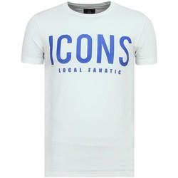 textil Herr T-shirts Local Fanatic ICONS Print Till W Vit