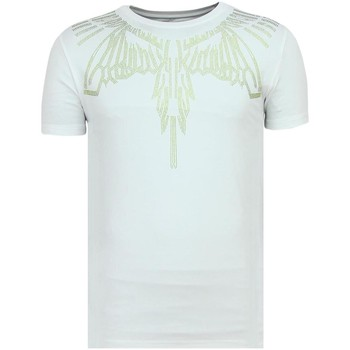 textil Herr T-shirts Local Fanatic Eagle Glitter Rhinestones A Kläder För W Vit