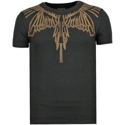 textil Herr T-shirts Local Fanatic Eagle Glitter Rhinestones A Kläder För Z Svart
