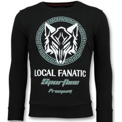 textil Herr Sweatshirts Local Fanatic Sportline Wolf Tryck Z Svart