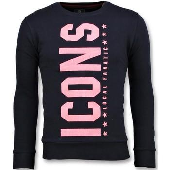 textil Herr Sweatshirts Local Fanatic ICONS Vertical Tryck N Blå