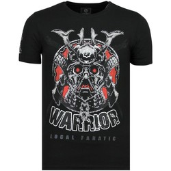 textil Herr T-shirts Local Fanatic Savage Samurai Rhinestones Z Svart