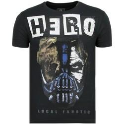 textil Herr T-shirts Local Fanatic Hero Mask Sommar N Blå