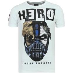 textil Herr T-shirts Local Fanatic Hero Mask Rhinestones Sommar W Vit