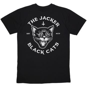 textil Herr T-shirts Jacker Black cats Svart