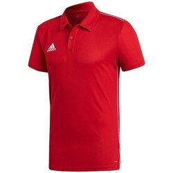 textil Herr Kortärmade pikétröjor adidas Originals Core 18 Röda