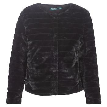 textil Dam Kappor Lauren Ralph Lauren FAUX CHUBBY Svart