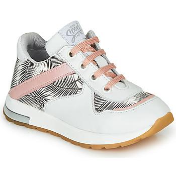 Skor Flickor Sneakers GBB LELIA Vit / Svart / Rosa
