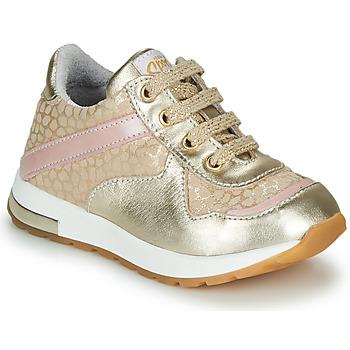 Skor Flickor Sneakers GBB LELIA Guldfärgad / Beige