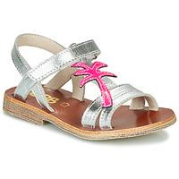 Skor Flickor Sandaler GBB SAPELA Silver / Rosa