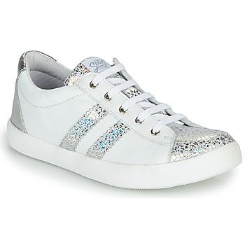 Skor Flickor Sneakers GBB MAPLUE Vit / Silver