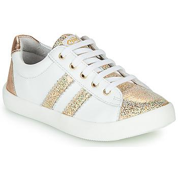 Skor Flickor Sneakers GBB MAPLUE Vit / Guldfärgad