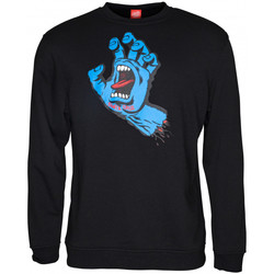 textil Herr Sweatshirts Santa Cruz Screaming hand Svart