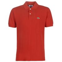 textil Herr Kortärmade pikétröjor Lacoste POLO L12 12 REGULAR Röd