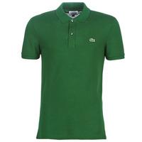 textil Herr Kortärmade pikétröjor Lacoste PH4012 SLIM Grön
