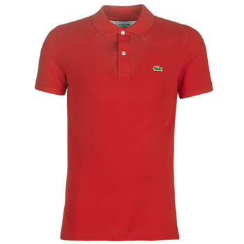textil Herr Kortärmade pikétröjor Lacoste PH4012 SLIM Röd