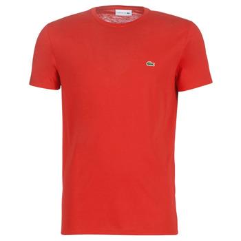 textil Herr T-shirts Lacoste TH6709 Röd