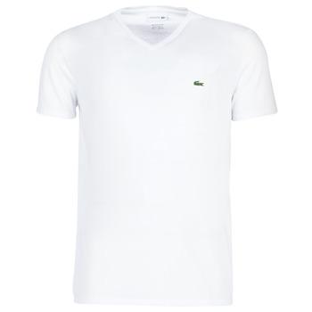 textil Herr T-shirts Lacoste TH6710 Vit