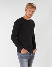 textil Herr Långärmade T-shirts Lacoste TH6712 Svart