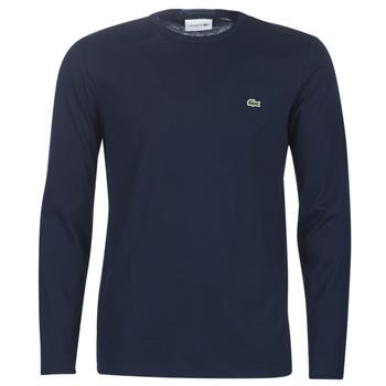 textil Herr Långärmade T-shirts Lacoste TH6712 Marin