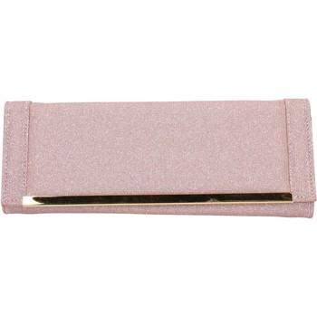 Väskor Dam Portföljer Made In Italia pochette rosa tessuto oro AB990 Rosa