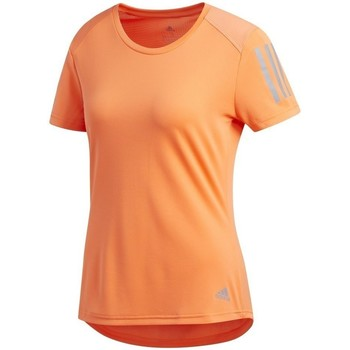 textil Dam T-shirts adidas Originals Own The Run Tee Orange