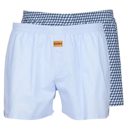 Underkläder  Herr Kalsonger DIM BOXER FLOTTANT x2 Blå