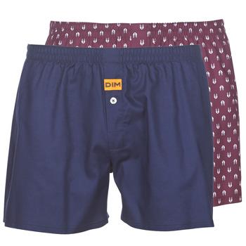 Underkläder  Herr Kalsonger DIM BOXER FLOTTANT x2 Marin / Bordeau
