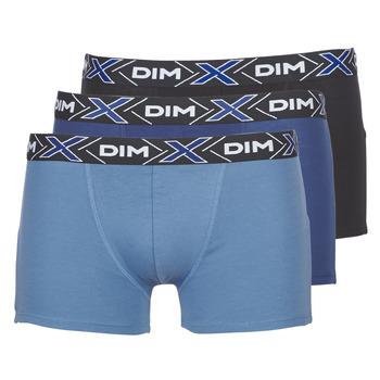 Underkläder  Herr Boxershorts DIM X-TEMP BOXER x3 Blå / Marin / Svart