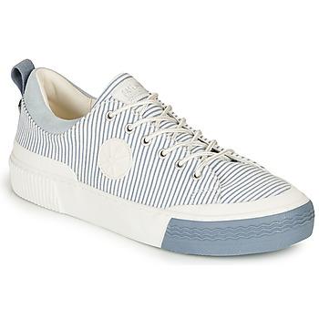 Skor Dam Sneakers Palladium STUDIO 02 TXT Vit / Blå