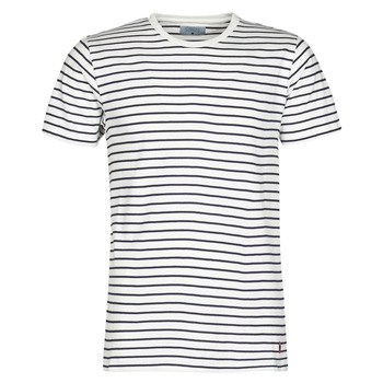 textil Herr T-shirts Casual Attitude KINO Marin / Vit