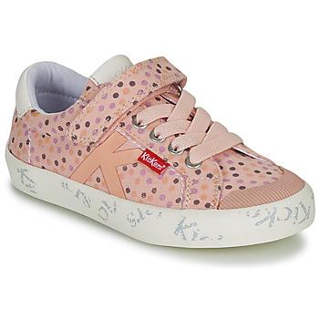 Skor Flickor Sneakers Kickers GODY Rosa / Prickig