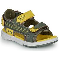 Skor Pojkar Sandaler Kickers PLANE Kaki / Gul