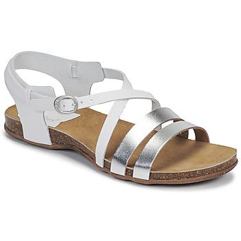 Skor Dam Sandaler Kickers ANATOMIUM Vit / Silverfärgad