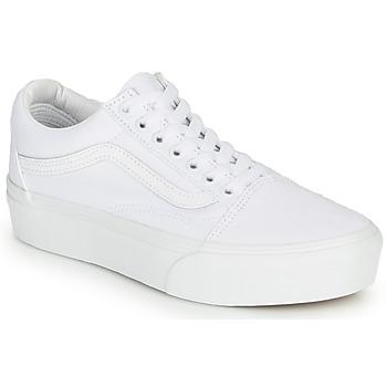 Skor Dam Sneakers Vans UA Old Skool Platform Vit