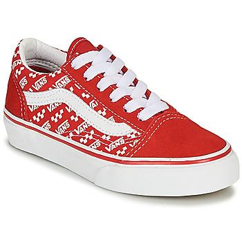 Skor Barn Sneakers Vans Old Skool Röd / Vit