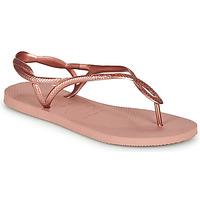 Skor Dam Flip-flops Havaianas LUNA Rosa / Guldfärgad