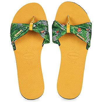 Skor Dam Flip-flops Havaianas YOU SAINT TROPEZ Gul / Grön