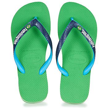 Skor Flip-flops Havaianas BRASIL MIX Grön / Blå