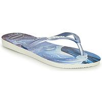 Skor Flickor Flip-flops Havaianas KIDS SLIM FROZEN Blå
