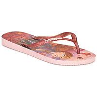Skor Flickor Flip-flops Havaianas KIDS SLIM FROZEN Rosa