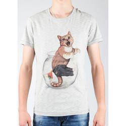 textil Herr T-shirts & Pikétröjor Wrangler Light Grey Mel W7940IS03 grey