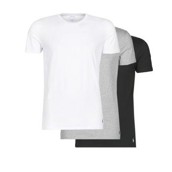 textil Herr T-shirts Polo Ralph Lauren WHITE/BLACK/ANDOVER HTHR pack de
