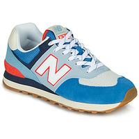 Skor Sneakers New Balance 574 Blå / Grå / Orange