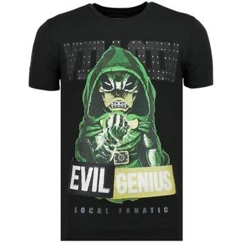 textil Herr T-shirts Local Fanatic Villain Duck Rhinestones Z Svart