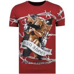 textil Herr T-shirts Local Fanatic Bad Angel Rhinestones Till B Bordeaux