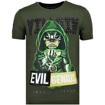 textil Herr T-shirts Local Fanatic Villain Duck Rhinestones G Grön