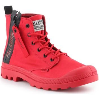 Skor Herr Höga sneakers Palladium Manufacture Pampa Unzipped 76443-614-M red