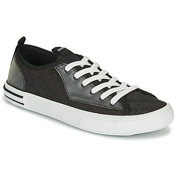 Skor Herr Sneakers Guess NETTUNO LOW Svart / Grå